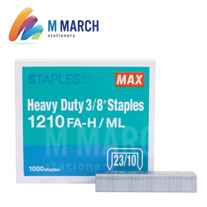 "MAX Staples Heavy Duty 3/8"" - 23/10 ( 1210 FA-H )"